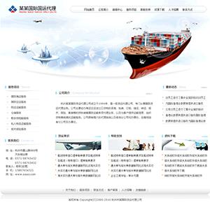 国际货运代理公司网站 - 金康云企业自主建站