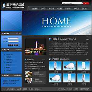 照明电器公司网站 - 金康云企业自主建站