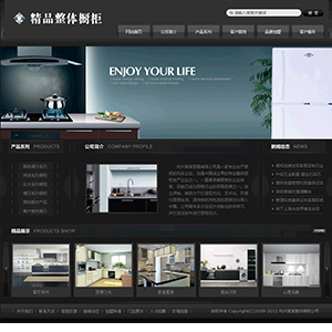 整体厨房公司网站 - 金康云企业自主建站
