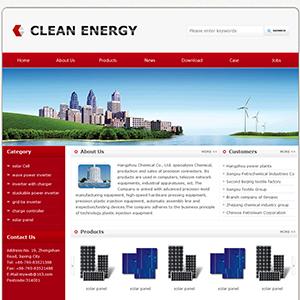 绿色能源设备网站(英文) - 金康云企业自主建站