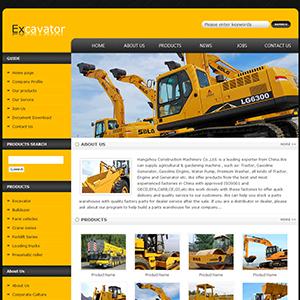 机械设备网站(英文) - 金康云企业自主建站