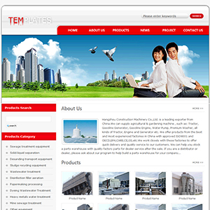 环保设备网站(英文) - 金康云企业自主建站