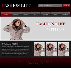 服装企业网站(英文) - 金康云企业自主建站