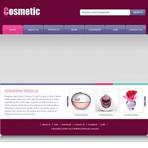 化妆品公司网站(英文) - 金康云企业自主建站